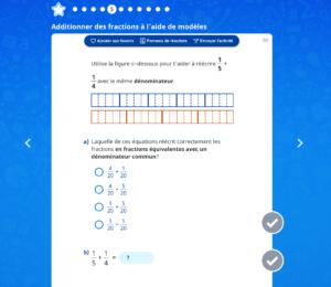 Additionner des fractions à l'aide de modèles