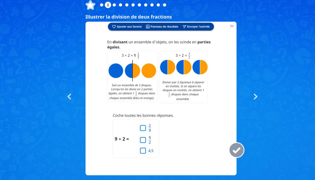 Diviser des fractions
