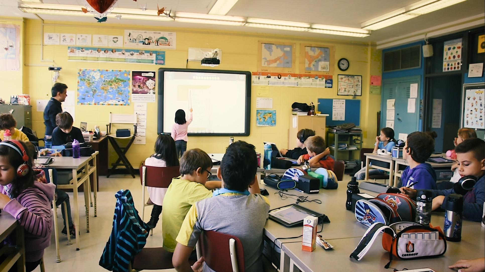 La classe Netmaths de Ludovic Tourné, enseignant à l'école Saint-Fabien, CS de Montréal
